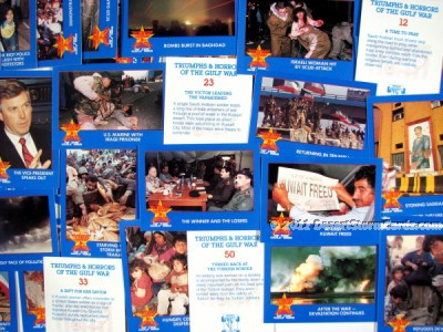 Link to info about Manning's Triumphs & Horrors Of The Gulf War trading cards