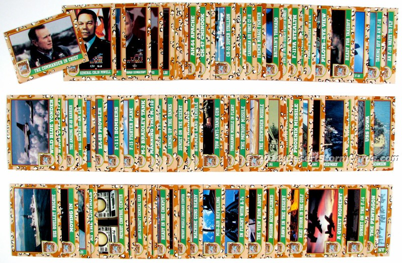 bd252f000f9 Topps Desert Storm Trading Cards Set Picture - Series 1 Brown Shield
